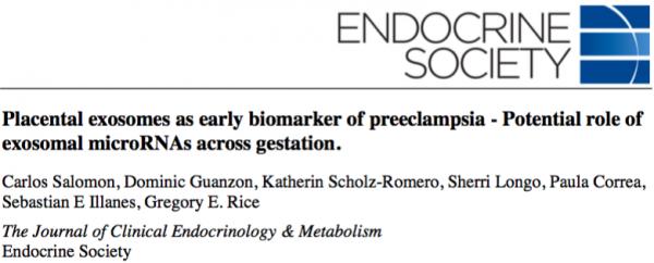 外泌体miRNA在妊娠中的作用——孕期外泌体可作为先兆子痫的早期生物标志物
