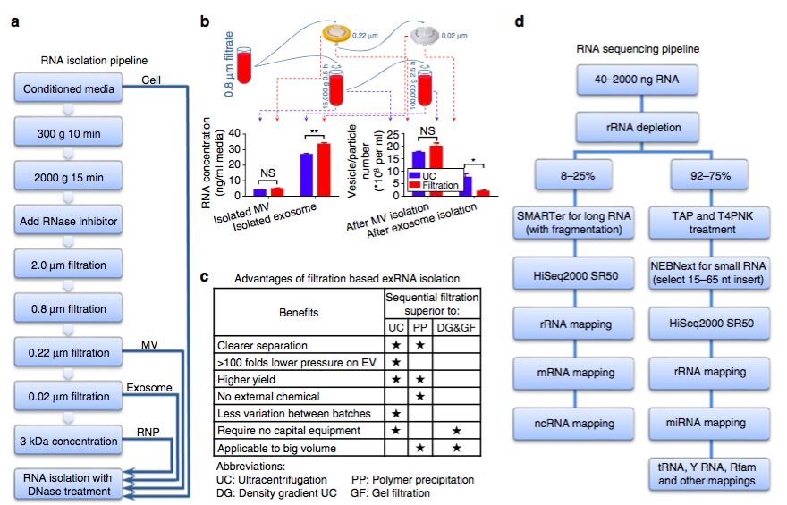 Nature Communications:人脑胶质瘤的细胞外RNA的表达谱分析