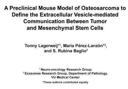 【操作视频】骨肉瘤的临床前小鼠模型用于研究细胞外囊泡介导的肿瘤和间充质干细胞之间的通讯