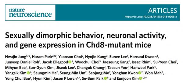 Nature Neuroscience:外泌体在Chd8突变的自闭症中的作用