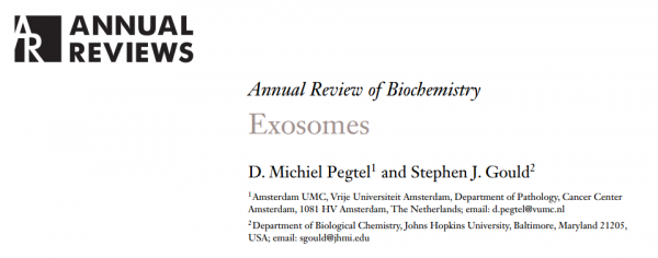 Annual Review of Biochemistry外泌体综述