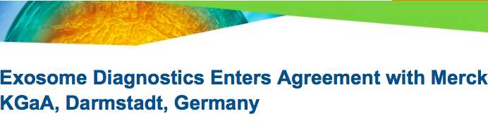 Exosome Diagnostics声称与德国默克公司合作 开发外泌体相关技术