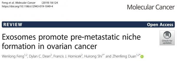【综述】郑州大学一附院:外泌体促进卵巢癌转移前生态位形成