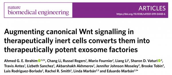 Nature子刊:利用Wnt信号通路可提高细胞及其外泌体的治疗效果