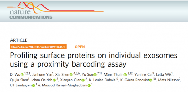 Nature子刊:单外泌体表面蛋白分析新技术——邻近编码技术