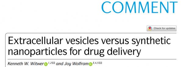 71分Nature子刊:药物递送——细胞外囊泡vs合成纳米颗粒