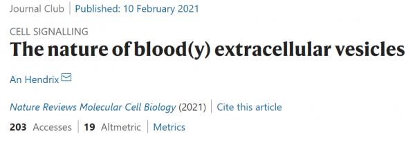 血液细胞外囊泡研究的血腥现实
