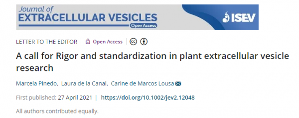 【Journal of Extracellular Vesicles】对植物细胞外囊泡研究严谨性和标准化的呼吁