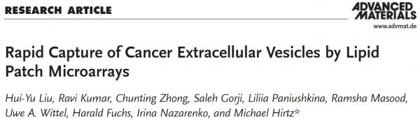 Adv Mater:新型微阵列快速捕获癌症细胞外囊泡